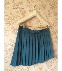 teal green pleated mini skirt women girl high waist school style skirt plus size