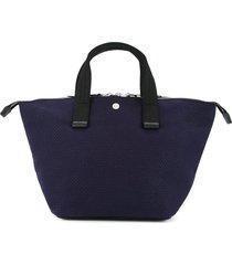 cabas bowler small tote bag - blue