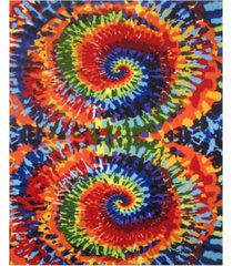 "fun rugs fun time tie-dye fun 19"" x 29"" area rug bedding"
