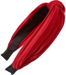 tasha pleated knot headband in burgundy at nordstrom