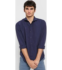 camisa azul new astor slim fit