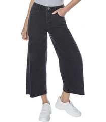 jeans culotte negro mujer corona