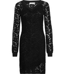 dress ls kort klänning svart rosemunde
