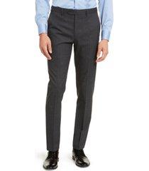 calvin klein men's skinny-fit infinite stretch plaid dress pants