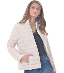 chaqueta para mujer en tafetan color-blanco-talla-xxs