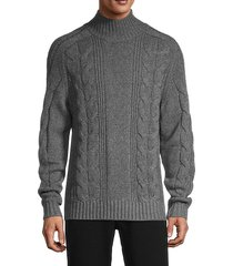 cable-knit wool & cashmere sweater