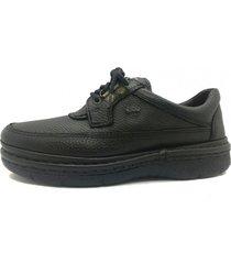 zapato de cuero negro febo super confort  floater