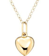 children's 14k gold heart necklace
