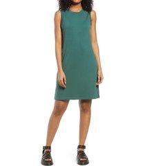 women's bp. french terry tank dress, size large - green