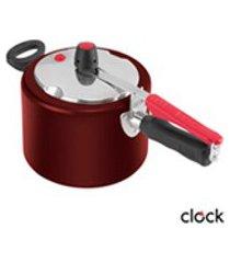 panela de pressao com 4,5 litros em aluminio vermelha - clock