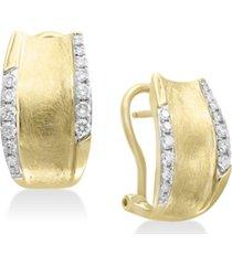d'oro by effy diamond hoop earrings (3/8 ct. t.w.) in 14k gold