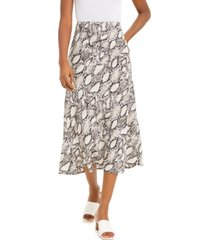 bar iii snake-print midi skirt, created for macy's