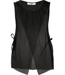 032c mesh panelled vest - black