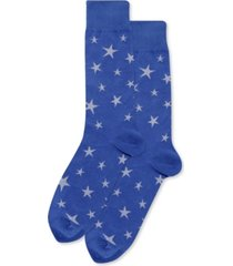 hot sox men's glow in the dark stars crew socks
