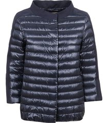 blue technical fabric padded jacket