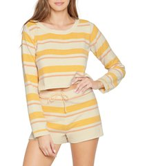 l space sun seeker cropped sweater, size x-large in sunshine stripe at nordstrom