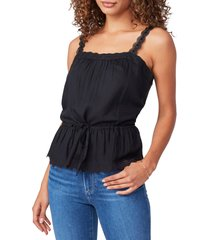 paige zherra cinched waist tank, size x-small in black at nordstrom