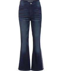 jeans a zampa con bande laterali (blu) - rainbow
