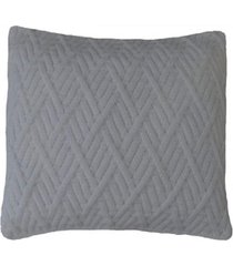 capa almofada tricot 40x40cm / 45x45cm c/zãper sofa trico cod 1025 branco - branco - feminino - dafiti