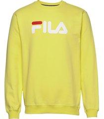 unisex classic pure crew sweat sweat-shirt tröja gul fila