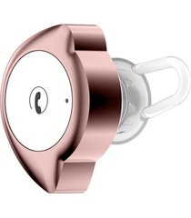 audífonos bluetooth, d4 mini auricular inalámbrico inalámbrico audifonos bluetooth manos libres  v4.1 auricular anti-sudor para el deporte pequeña luz media-luna micrófono auricular de forma (blanco rosa)