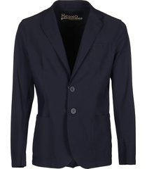 blue single-breasted blazer