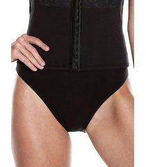 panty levantacola y control abdomen en algodón - negro ref. 1170 soutien