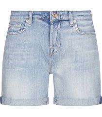 7 for all mankind stretch denim shorts