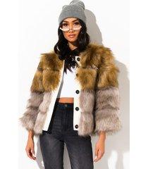 akira rich mode on fur jacket