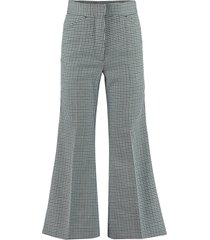 moncler micro houndstooth trousers