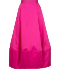 co structured high waist skirt - pink