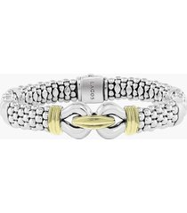 lagos 'derby' two-tone caviar rope bracelet, size small in sterling silver - gold at nordstrom