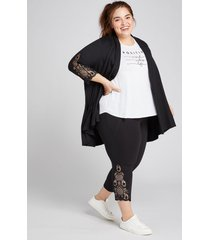 lane bryant women's livi capri power legging - crochet hem 22/24 black