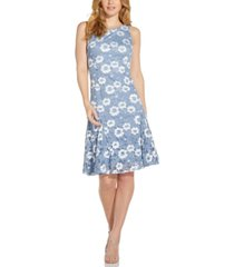 adrianna papell godet lace fit & flare dress