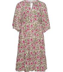 rouse8 knälång klänning rosa violeta by mango