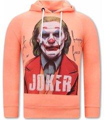 tony backer joker hoodies orange