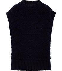 lupiagz waistcoat vests knitted vests blå gestuz