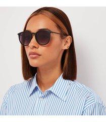 le specs women's oh buoy round sunglasses - matte black