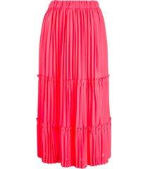 comme des garçons high-waist tiered skirt - pink