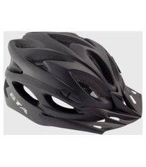 capacete ciclismo gta nx preto fosco com led