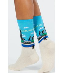 hot sox women's chicago fashion crew socks