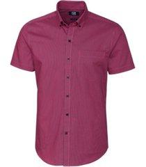 cutter & buck men's strive rail stripe shirt