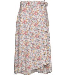 rose wrap skirt knälång kjol multi/mönstrad lexington clothing