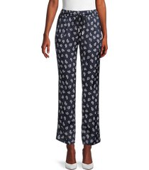 the kooples women's paisley-print pants - navy - size 1 (s)