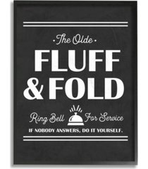 """stupell industries olde fluff and fold ring bell for service framed giclee art, 16"""" x 20"""""""
