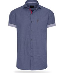cappuccino italia short sleeve blouse navy dotted
