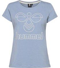 hmlsenga t-shirt s/s t-shirts & tops short-sleeved blå hummel