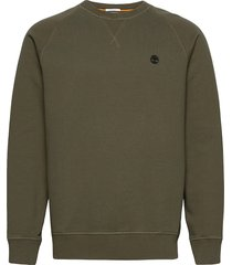 e-r basic regular crew sweat-shirt tröja grön timberland