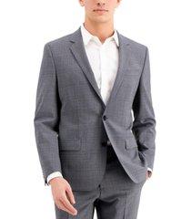hugo men's gray slim-fit wool suit separate jacket