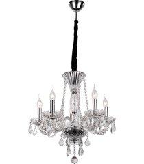 lustre de cristal 8 lâmpadas galway